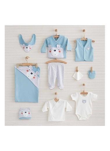 Bebbek Nenny Baby Bear Erkek Bebek 10'lu Hastane Çıkışı NB-142 Renkli